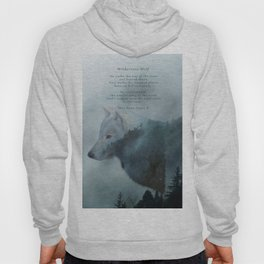 Wilderness Wolf & Poem Hoody
