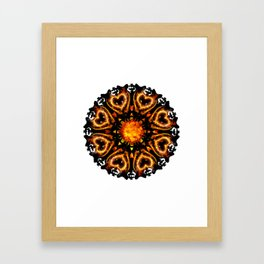 hell mandala Framed Art Print