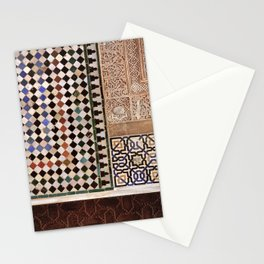Details in The Alhambra Palace. Gold courtyard Stationery Cards
