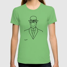 The Son Of Man 1946 Sketch by Rene Magritte Inspired Design, Artwork for Tshirts, Prints, Posters, B T-shirt