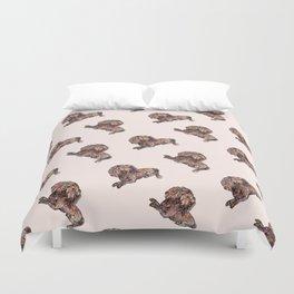 Dog Pattern 2 on Girly Pink Duvet Cover