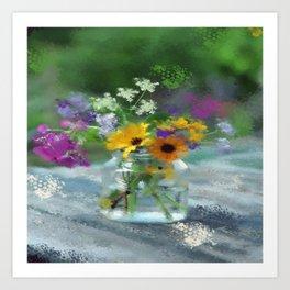Wild Flower Jar Art Print