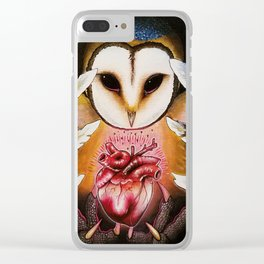 Hunter in the Night Clear iPhone Case