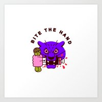 Bite the Hand Art Print