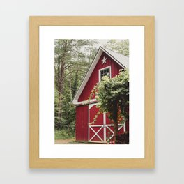 Red Barn 3 Framed Art Print