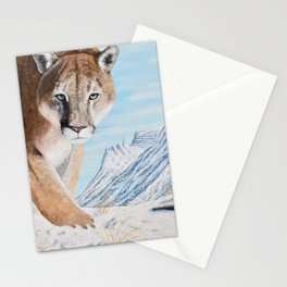 Mountain Lion in the Rockies Stationery Cards