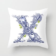 Letter X Throw Pillow