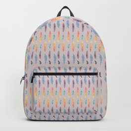 Feather Stripes on Rose Backpack