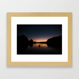 Sunrise Kayak Framed Art Print