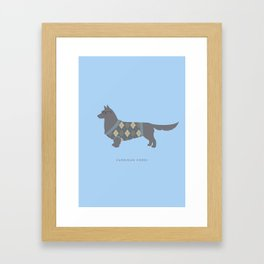 Cardigan Corgi Framed Art Print