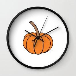 Halloween orange pumpkin Wall Clock