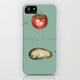 Tomato Potato iPhone Case