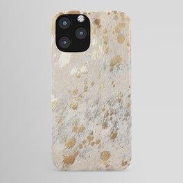 Gold Hide Print Metallic iPhone Case