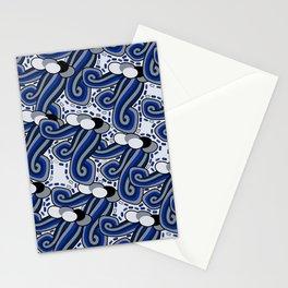 Winter Wind Mod Retro Stationery Cards