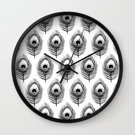 Peacock Feather pattern Wall Clock