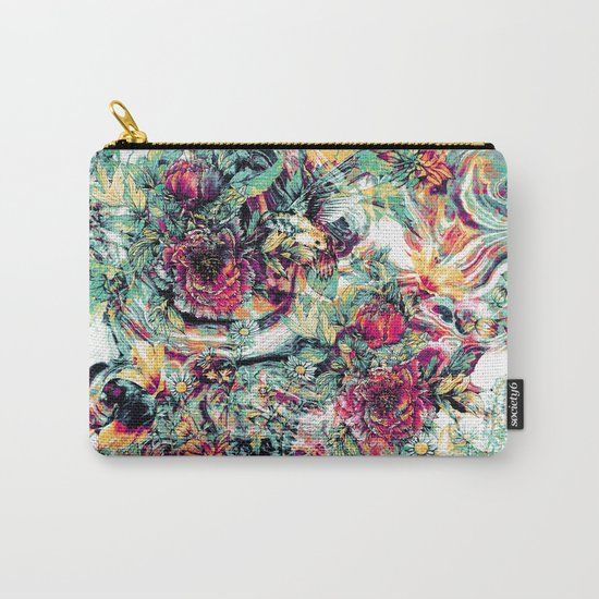 Flowers & Birds Carry-All Pouch