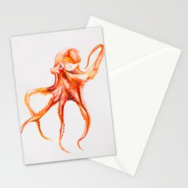 Watercolor Octopus Stationery Cards