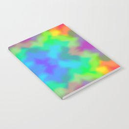 Rainbow Multicolored Watercolor Abstract Tie Dye Notebook