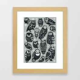 Flock of Owls Framed Art Print