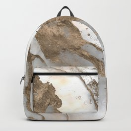 Liquid marble - pearl and gold Backpack
