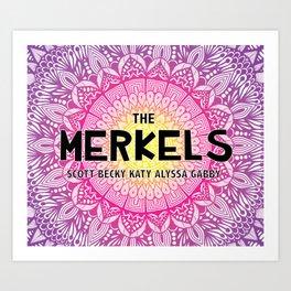 Merkels Art Print