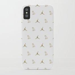 Jumpman - White iPhone Case