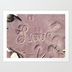 Love in the Sand Art Print