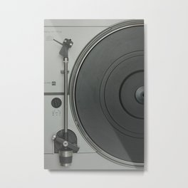 OLD SCHOOL VINYL VIBES Metal Print