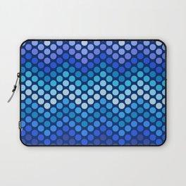 Dot Chevron: Blue violet Laptop Sleeve