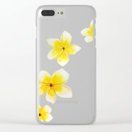 Common Frangipani watercolor Clear iPhone Case