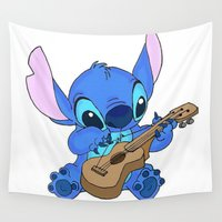 stitch Wall Tapestries featuring Stitch by Christa Morgan ☽