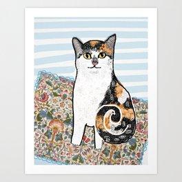 Mattie CatDoodle Art Print