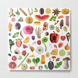 Food Doodles Metal Print