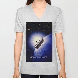 HUBBLE SPACE TELESCOPE. Unisex V-Neck