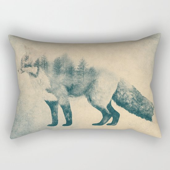 Fox and Forest - Shrinking Forest Rectangular Pillow