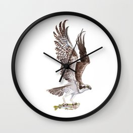 Osprey and Rainbow Trout Wall Clock