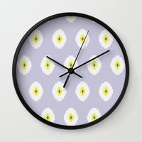 greece Wall Clocks featuring greece by Claire C