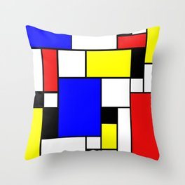 Colored Squares Art Throw Pillow
