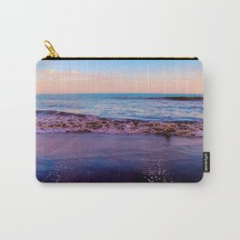 beach sunset with beautiful blue cloudy sky and blue wave in summer Carry-All Pouch