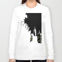 edinburgh Long Sleeve T-shirts featuring Edinburgh by night by Slug Draws