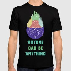 Zootopia - Anyone Can Be Anything [BLACK] Black MEDIUM Mens Fitted Tee