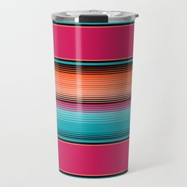 Traditional Mexican Serape in Teal Travel Mug