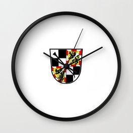 flag of Bayreuth Wall Clock