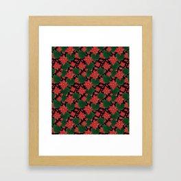 Poinsettia Party Framed Art Print
