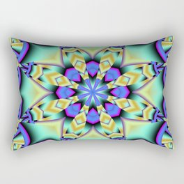 A touch of Spring, fantasy flower pattern design Rectangular Pillow