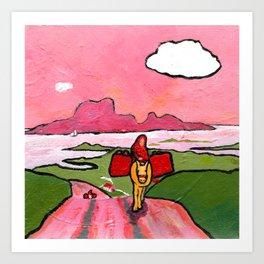 The West of Ireland - The quiet road Art Print