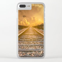 Journey along Railway Track Clear iPhone Case