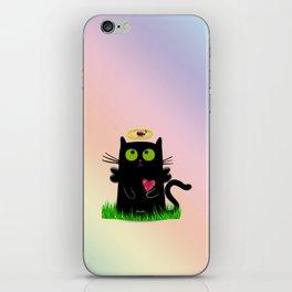 angel cat and ladybug iPhone Skin