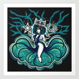 Nocturnal Goddess Art Print