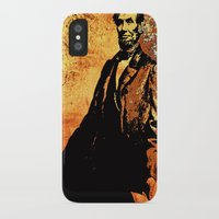 lincoln iPhone & iPod Cases featuring Abraham Lincoln by Saundra Myles